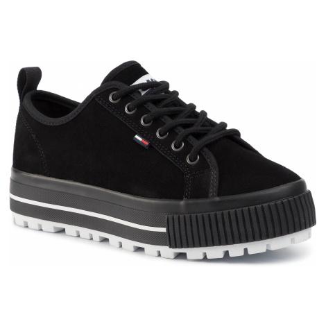 Sneakersy TOMMY JEANS - Wmns Cleated City Sneaker EN0EN00714 Black BDS Tommy Hilfiger