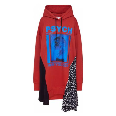 McQ Alexander McQueen Sukienka 'Hybrid Hoodie' czerwony