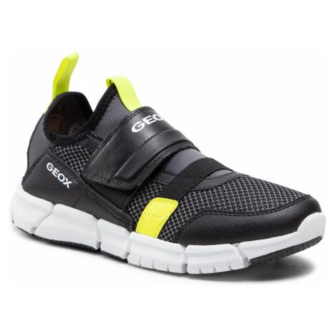Sneakersy GEOX - J Flexyper B.C J159BC 014BU C9151 D Black/Fluo Yellow