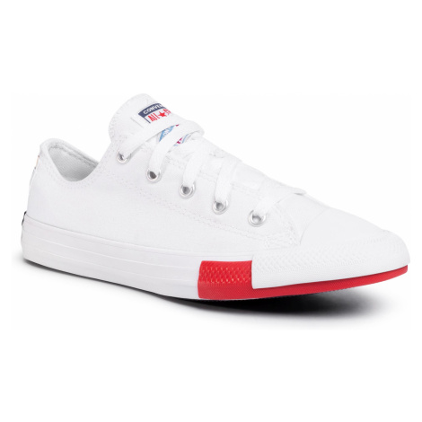 Trampki CONVERSE - Ctas Ox 366993C White/University Red/Black