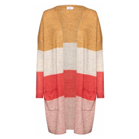 ONLY Sweter 'MIRNA' beżowy / złoty żółty / czerwony