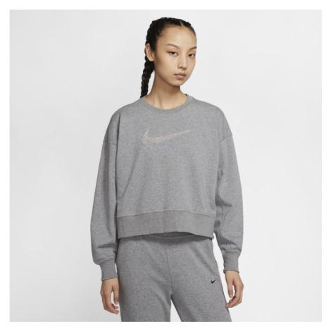 Damska bluza treningowa z logo Swoosh Nike Dri-FIT Get Fit - Szary