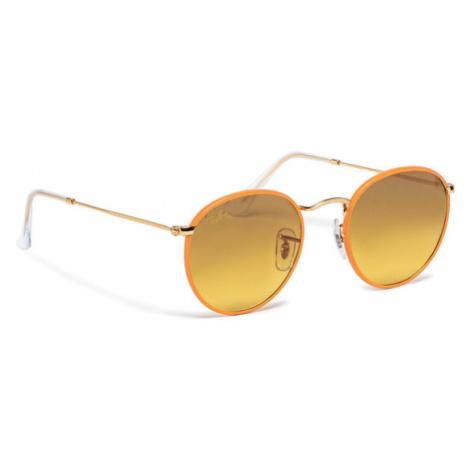 Ray-Ban Okulary przeciwsłoneczne Round Full Color 0RB3447JM Pomarańczowy
