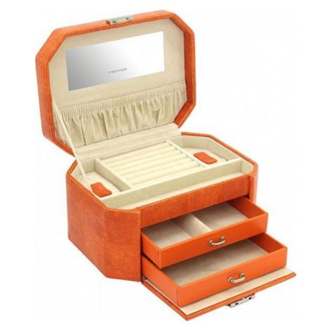 Friedrich Lederwaren Pudełko na biżuterię pomarańczowe / beżowe z wzorem jaszczurki New Candy 23