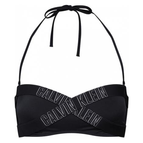 Calvin Klein Swimwear Góra bikini 'BANDEAU-RP' czarny