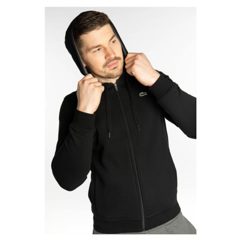 Bluza Lacoste Sport Tennis Hooded Sweatshirt E89 Black/grey Chine
