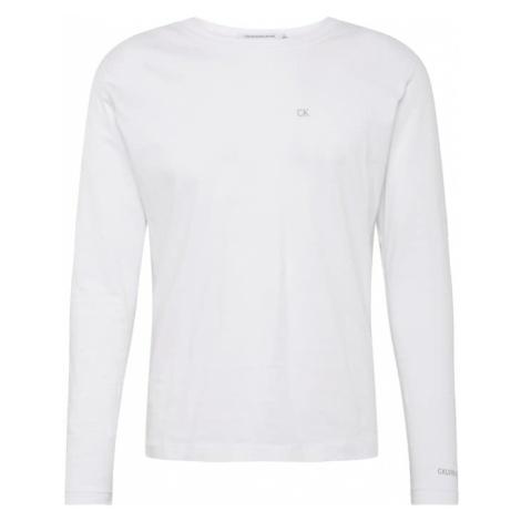 Calvin Klein Jeans Koszulka 'CKJ EMBROIDERY LS REG TEE' biały