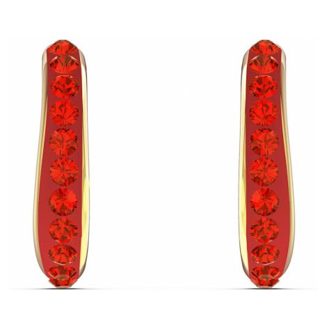 Sztyftowe kolczyki koła The Elements, czerwone, powłoka w odcieniu złota Swarovski