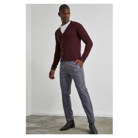 Trendyol Burgundy Men's Slim Fit Pants