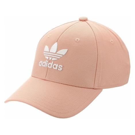 czapka z daszkiem adidas Originals Baseball Classic Trefoil - Dust Pink/White