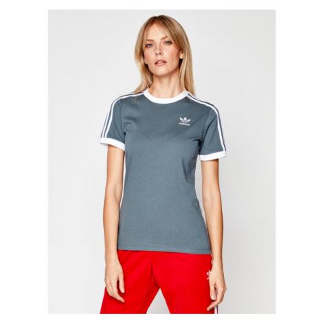 Adidas T-Shirt Adicolor Clasics 3-Stripes GN2914 Szary Regular Fit