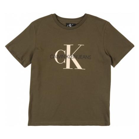 Calvin Klein Jeans Koszulka 'MONOGRAM SS T-SHIRT' khaki