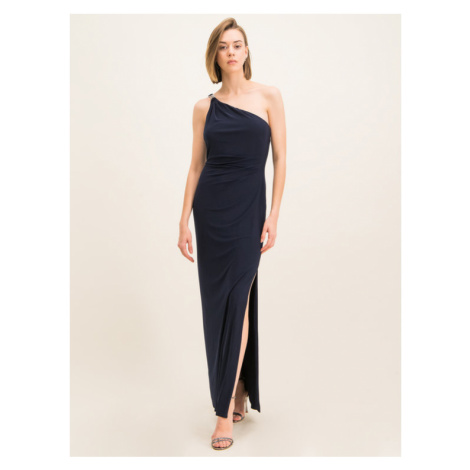 Lauren Ralph Lauren Sukienka wieczorowa 253751483 Granatowy Slim Fit