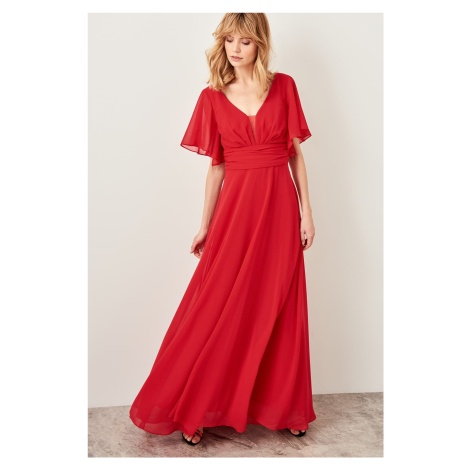 Trendyol Red Ruffles Detailed Dress