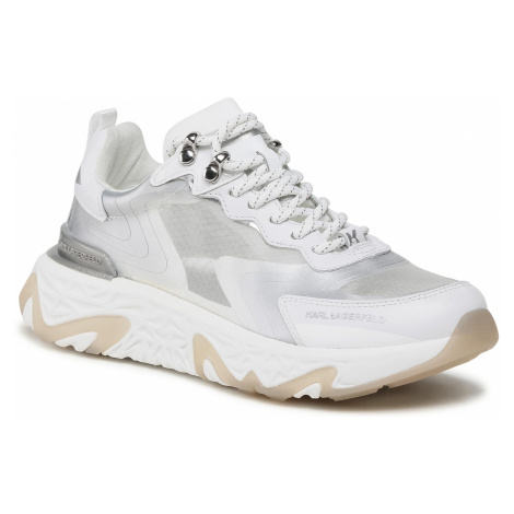 Sneakersy KARL LAGERFELD - KL62410 White Ripstop