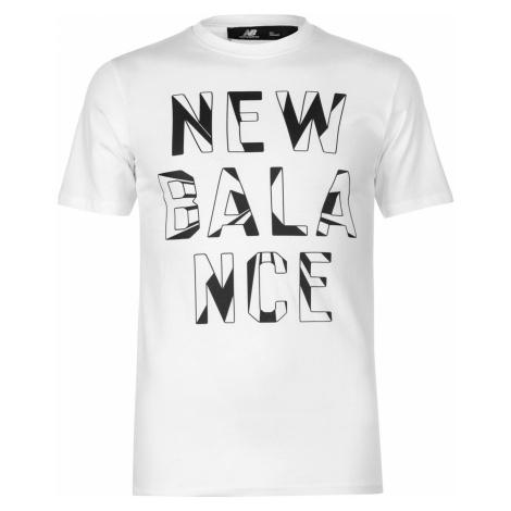 New Balance Written Print T Shirt Mens