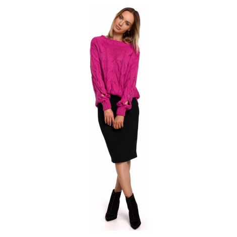 Made Of Emotion Woman's Pullover M539 Fuchsia