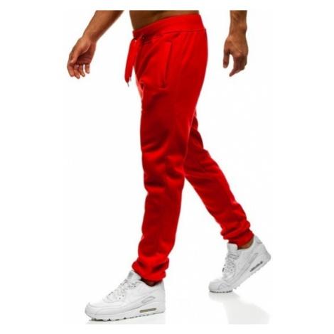 Spodnie męskie dresowe czerwone Denley XW01 J.STYLE
