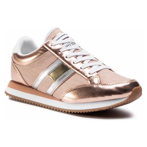 Sneakersy TOMMY JEANS - Casual Retro Sneaker EN0EN00413 Rose Gold 652 Tommy Hilfiger