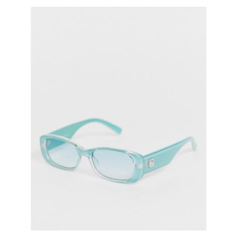 Le Specs Unreal! square sunglasses in blue