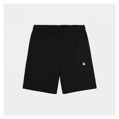 Szorty męskie Carhartt WIP Chase Sweat Short I028950 BLACK/GOLD