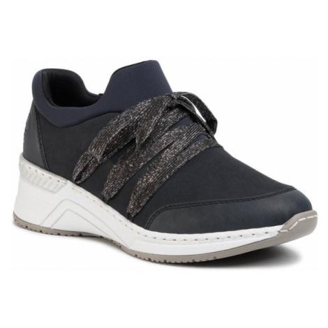 Rieker Sneakersy N4393-14 Granatowy