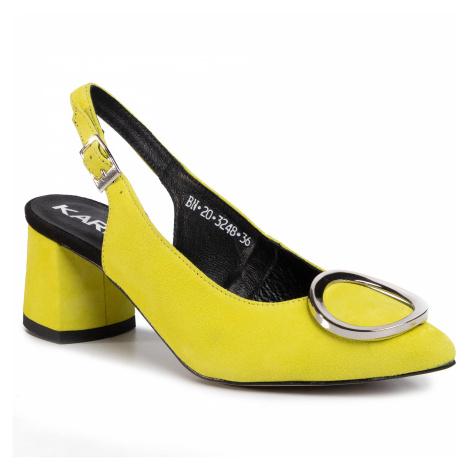 Sandały KARINO - 3248/070-P Żółty
