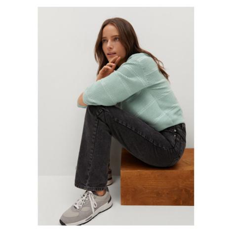 Mango Sweter Redding 87044016 Zielony Regular Fit