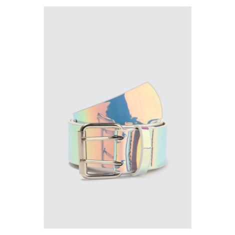 Modskórowy pasek skórzany z wielokolorowym hologramem Trendyol