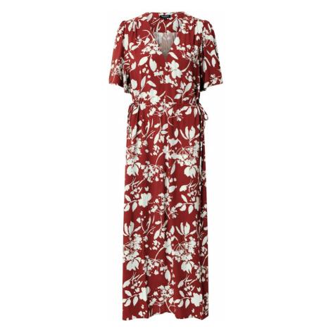 SELECTED FEMME Sukienka 'WYNONA-DAMINA' rdzawobrązowy / biały / merlot
