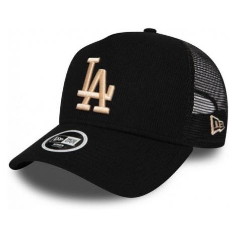 New Era 9FORTY WAF TRUCKER MLB RIBBED JERSEY LOS ANGELES DODGERS czarny  - Klubowa czapka typu t