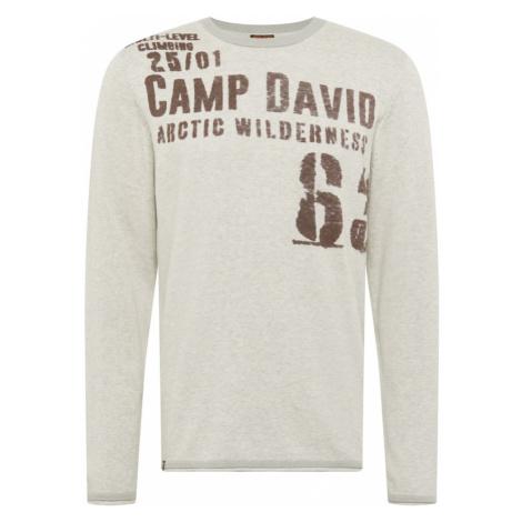 CAMP DAVID Sweter szary / ciemnobrązowy
