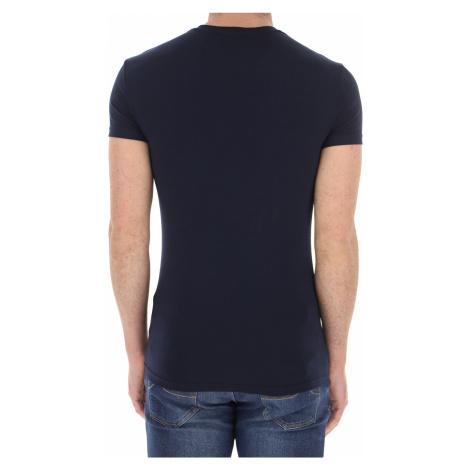 Emporio Armani Koszulka dla Mężczyzn, niebieski (Blue Navy), Bawełna, 2021