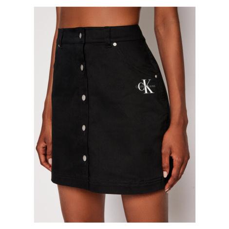Calvin Klein Jeans Spódnica jeansowa J20J215720 Czarny Regular Fit