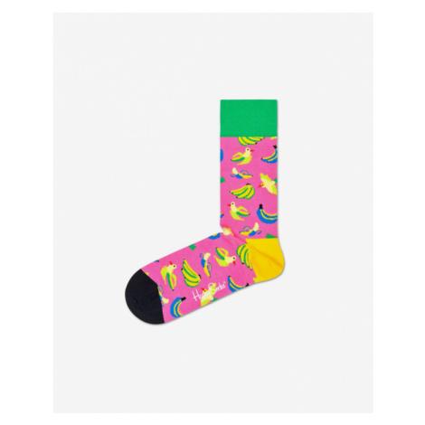 Happy Socks Banana Bird Skarpetki Różowy