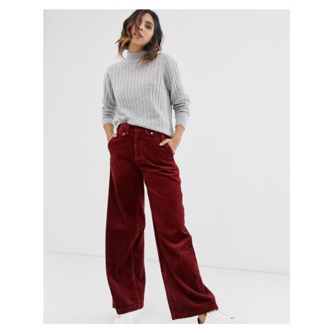 Vero Moda wide leg cord trousers in brown