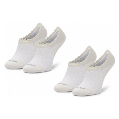 Calvin Klein Zestaw 2 par stopek damskich 100001799 Beżowy