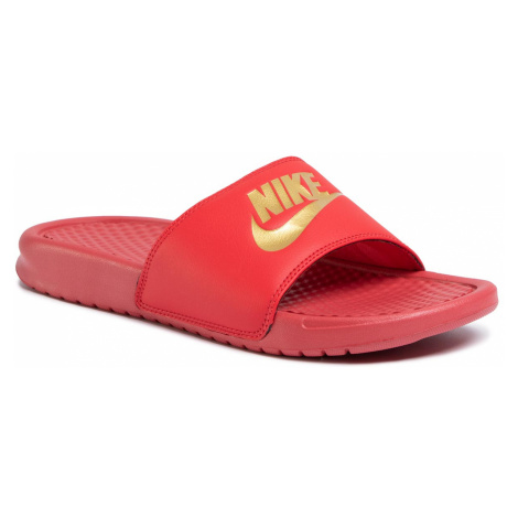 Klapki NIKE - Benassi Jdi 343880 602 University Red/Metallic Gold