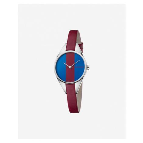 Calvin Klein Rebel Zegarek Niebieski Czerwony Srebrny