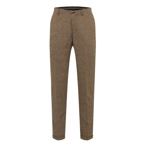 SELECTED HOMME Chinosy 'SLHSLIMTAPERED-FLEET PANTS B' granatowy / brązowy