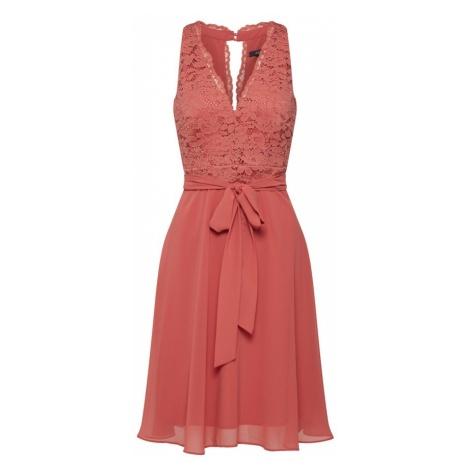 Esprit Collection Sukienka koktajlowa różowy pudrowy / pomarańczowo-czerwony