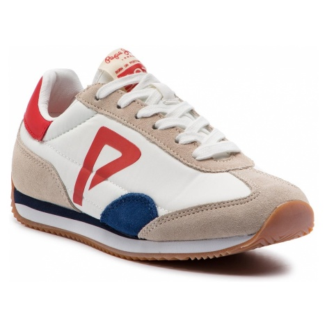 Sneakersy PEPE JEANS - Tahiti Retro Junior PBS30390 White 800