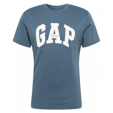 GAP Koszulka podpalany niebieski / biały