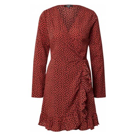 Missguided Letnia sukienka rdzawoczerwony