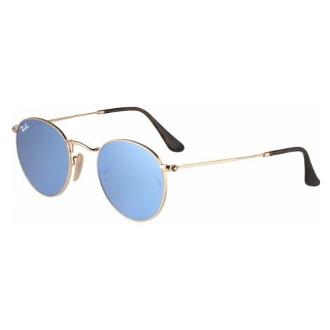 Ray-Ban Okulary przeciwsłoneczne 'Round' jasnoniebieski / złoty