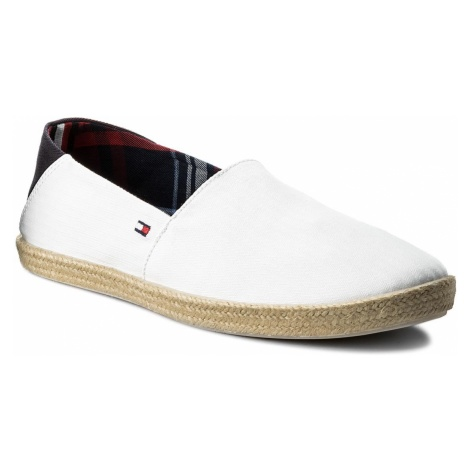 Espadryle TOMMY HILFIGER - Easy Summer Slip On FM0FM00569 White 100