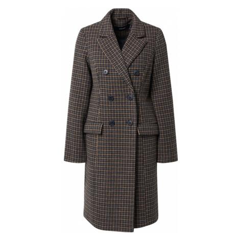 VERO MODA Płaszcz zimowy 'Hafia' jasnobrązowy / czarny / gołąbkowo niebieski