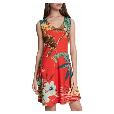 Desigual czerwona sukienka Vest Memphis