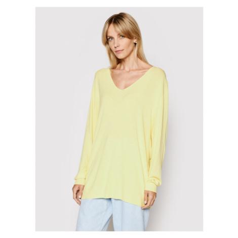 Kontatto Sweter 3M7215 Żółty Relaxed Fit