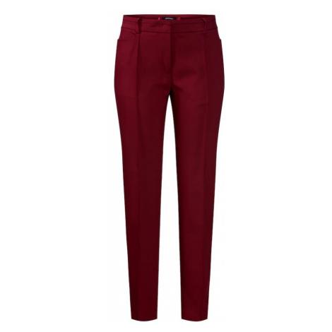 MORE & MORE Spodnie w kant pomarańczowo-czerwony / ciemnoczerwony